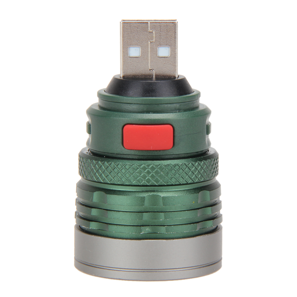 USB LED Power Bank Flashlight Head Lamp 3W Extension Light Torch  #Z