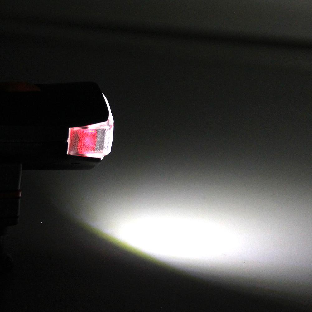 Bicycle COB LED Bike Cycling Front Rear Tail Light+5LED White Light Lamp