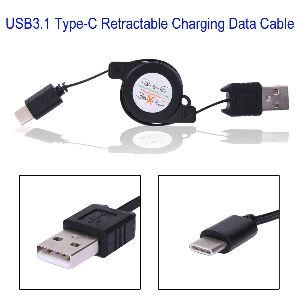 37th Infantry Division Retractable USB Charging Cable 3 in 1 Single Pull Retractable Fast Charger Cord Connector USB Port Compatible for All Phones Compatible Tablets