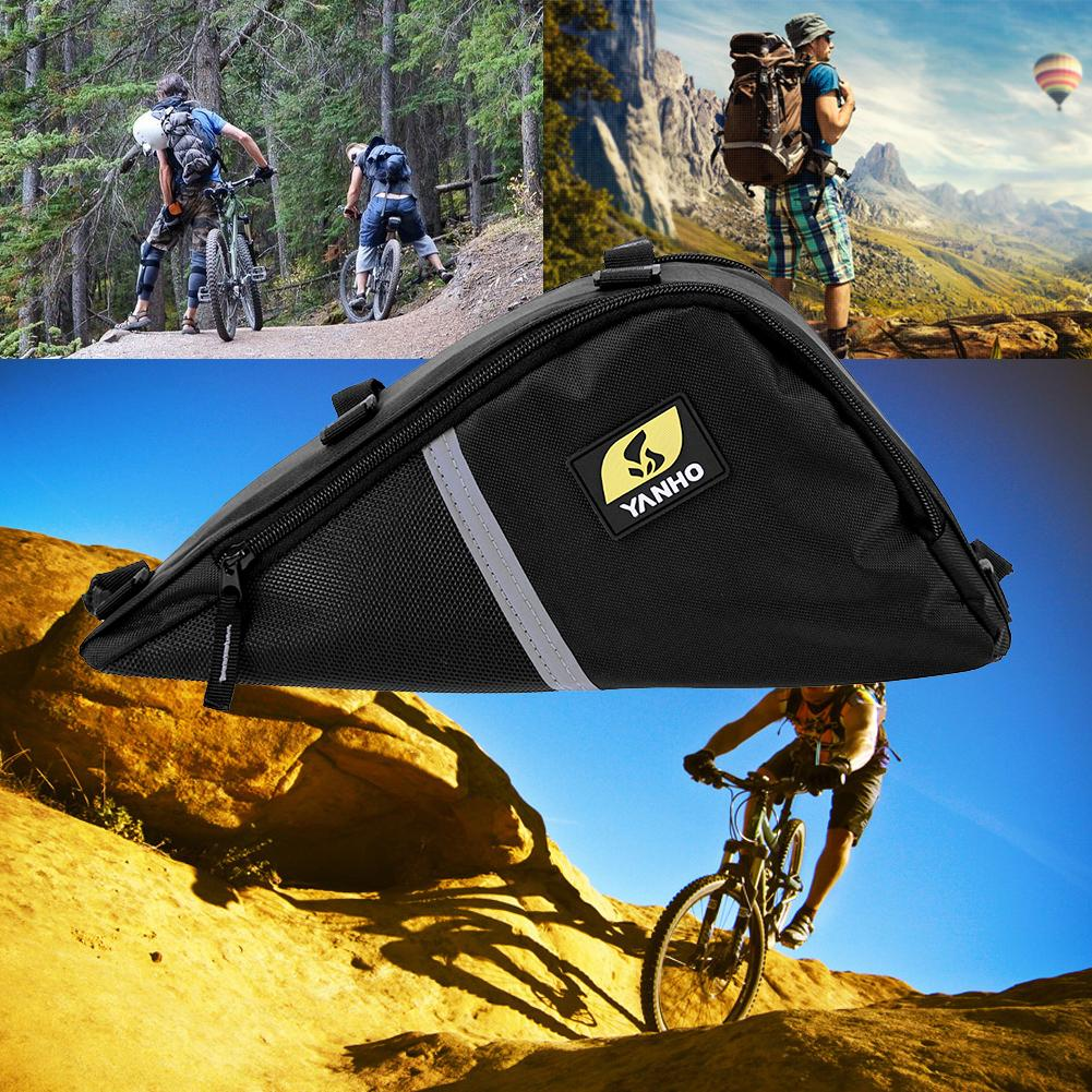Front Tube Storage Pouch Triangle Frame Bag for Outdoor Sports Bicycle Bike US