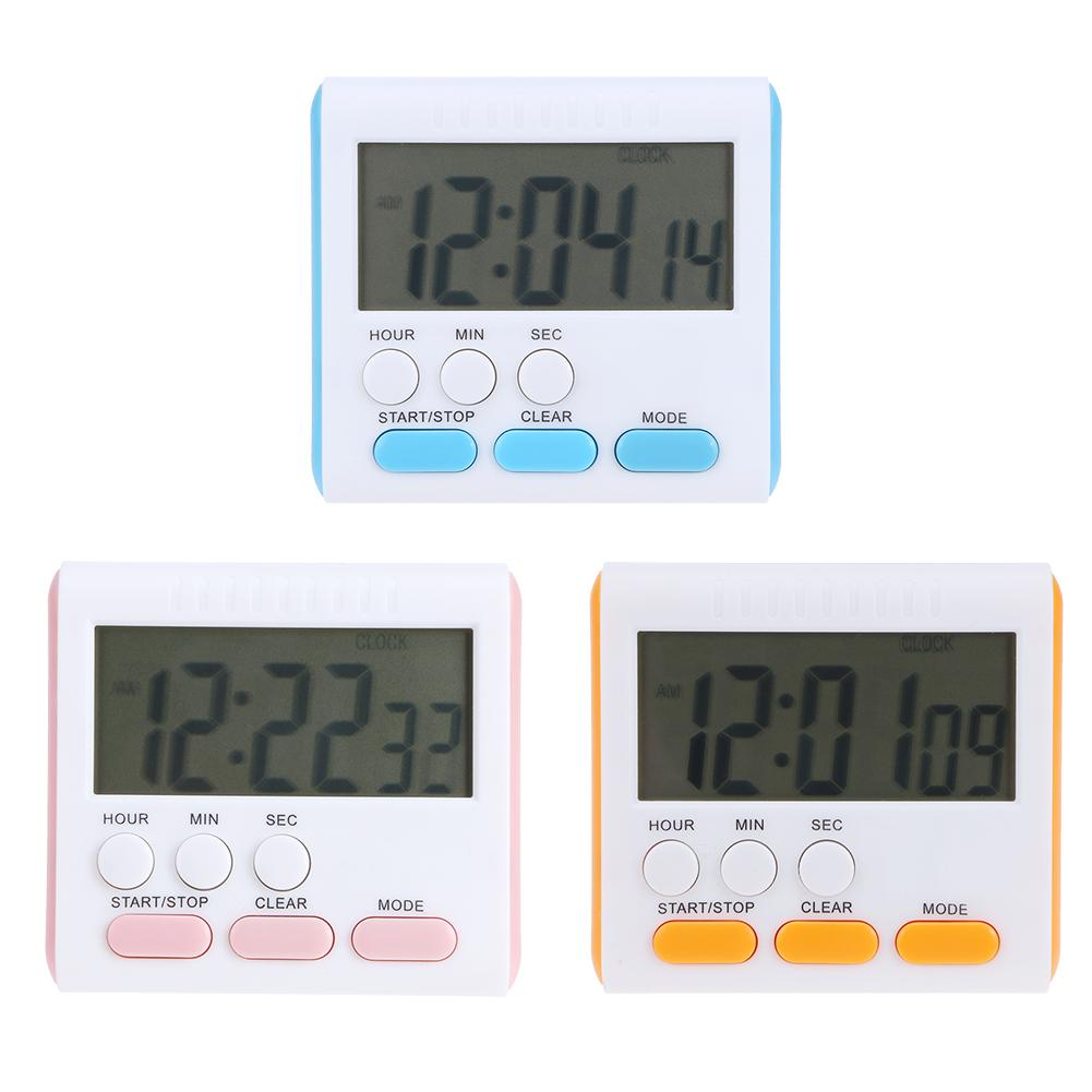 Multi-function Electric LCD Digital Kitchen Timer Alarm Count Up Down Clock L/&6
