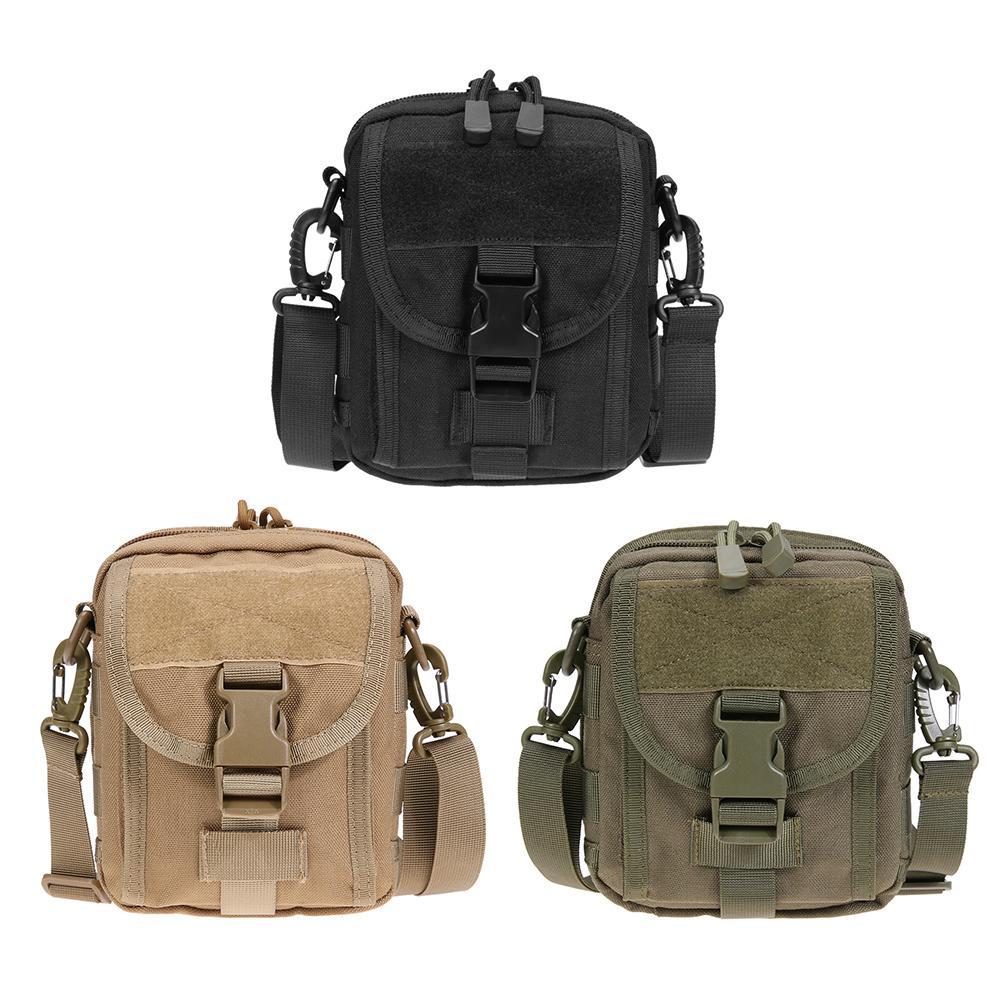 Waterproof 1000D Nylon MOLLE Belt Waist Bag Shoulder Bag Outdoor EDC Pouch Packs