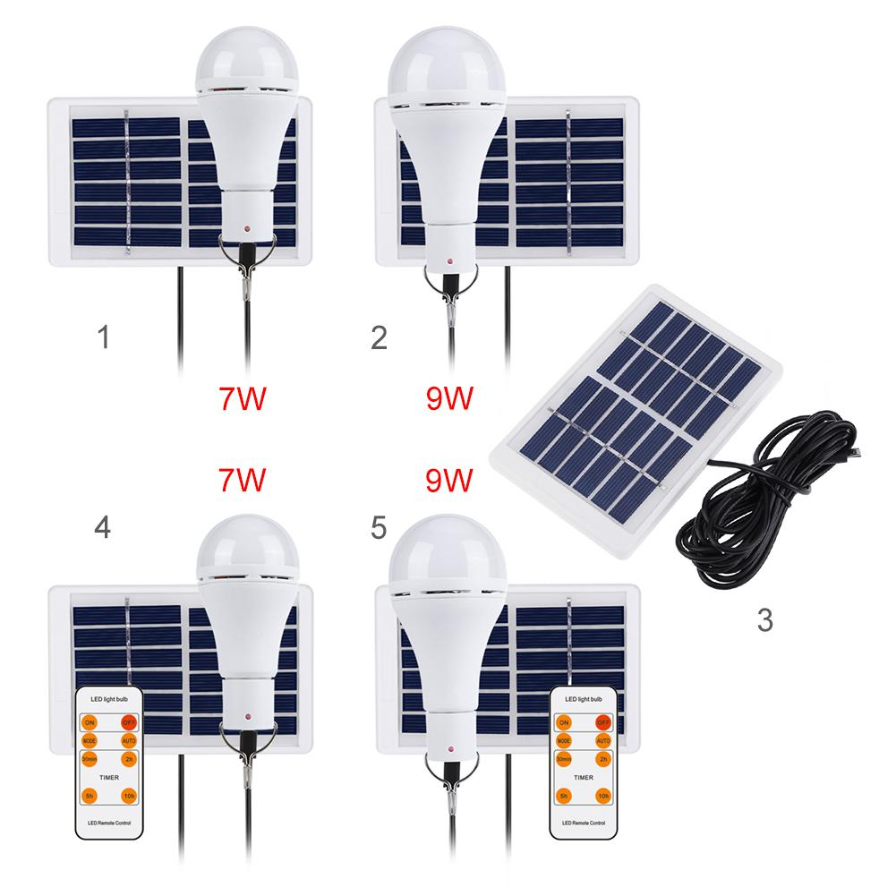 5 Modes 20 COB LED Solar Light USB Rechargeable Energy Bulb Camping Lamp #8Y