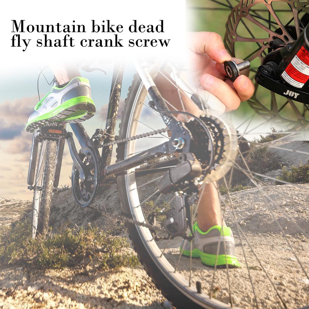 2pcs//pack Cycle Bike Bicycle Bottom Bracket Axle Allen Key Crank Arm Bolts Screw