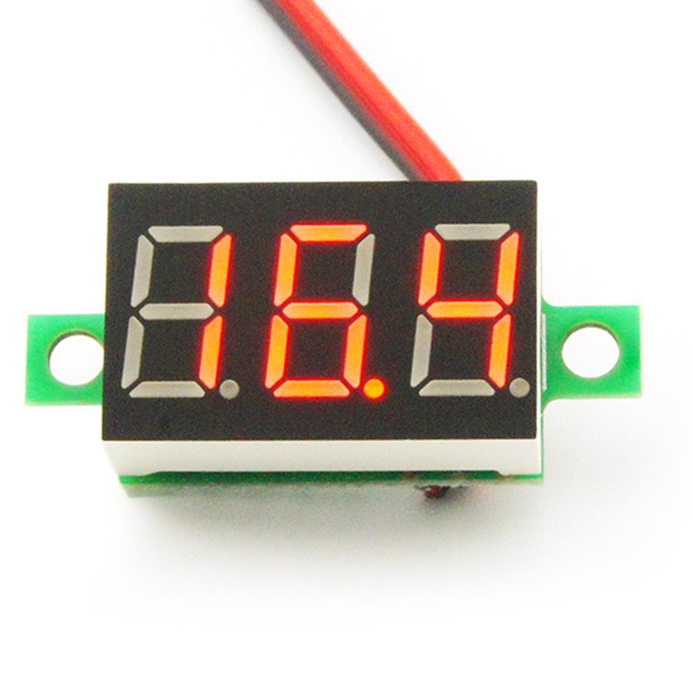 4 Color DC 4.7-30V Mini LED Panel Voltage Meter 3-Digital Adjustment Voltmeter
