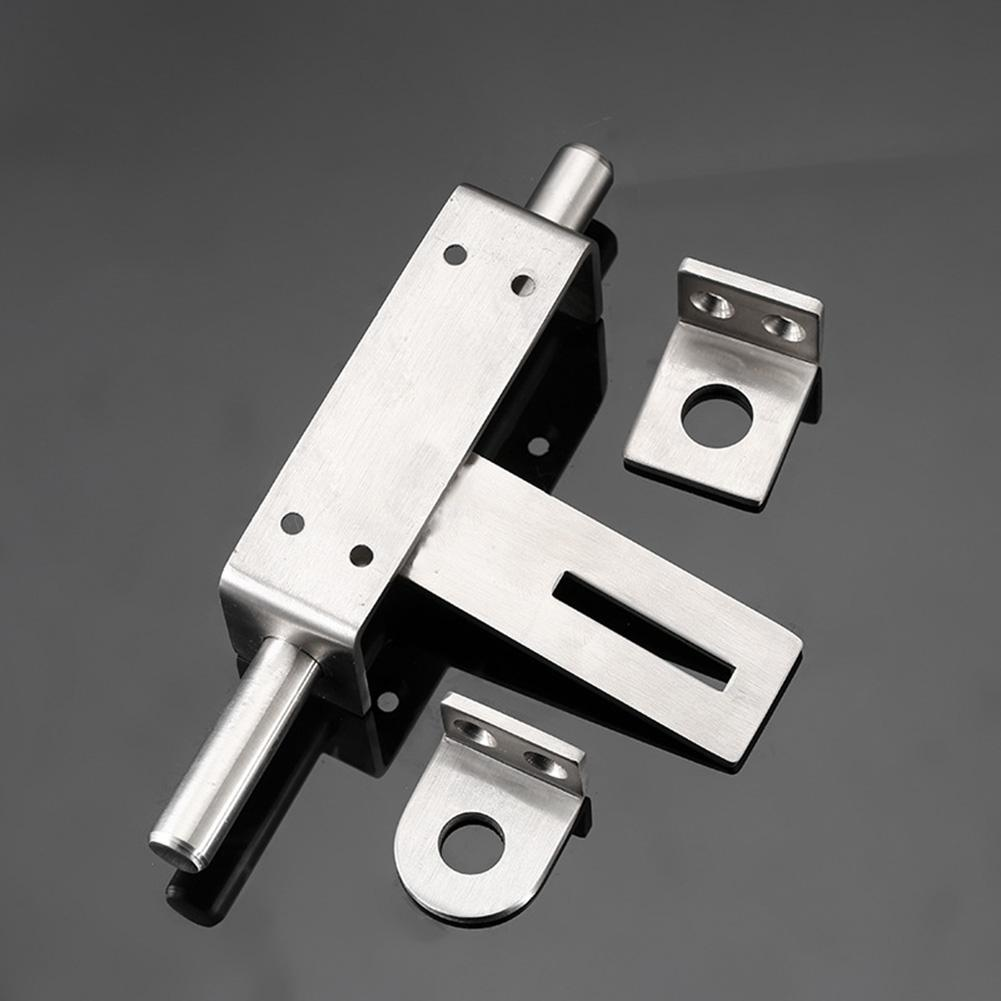 JKGHK Latches Bolts 2Pcs Door Bolts Stainless Steel Latch Sliding Door Lock Surface Mounted Slide Bolt for All Types of Internal Doors,2inch