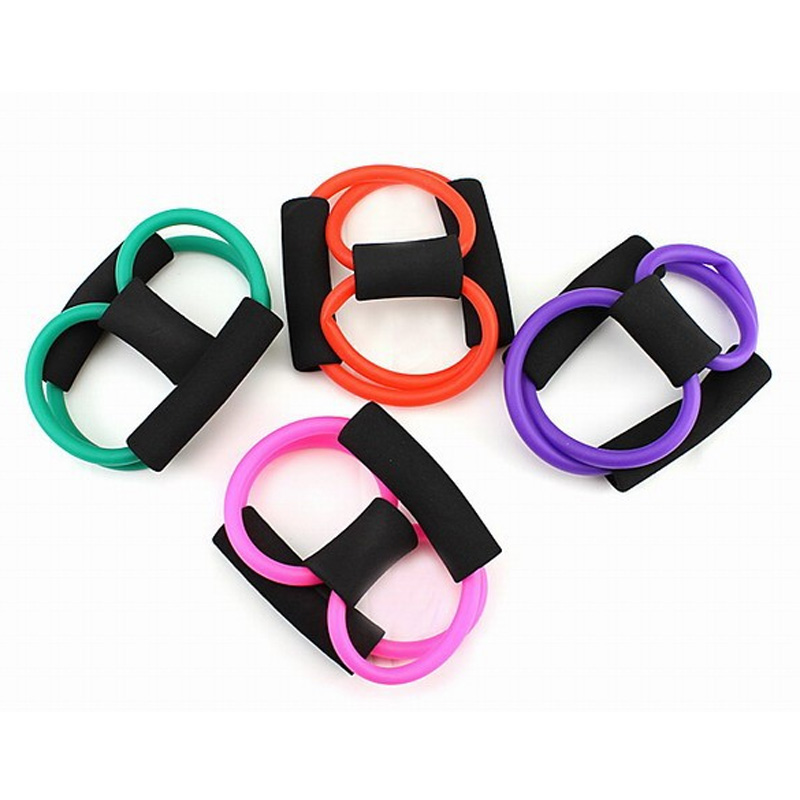 8 Shaped Elastic Tension Rope Chest Expander Yoga Pilates Fitness Belt