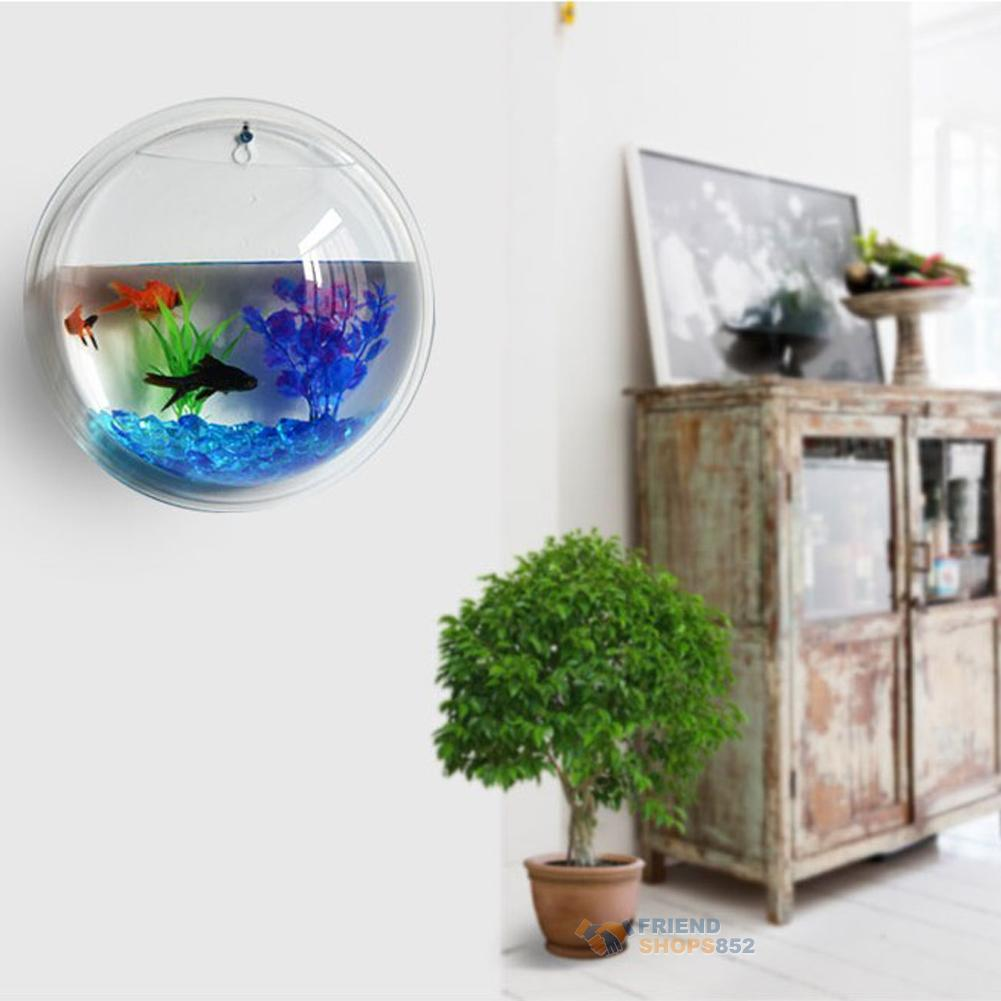 Plant wall hanging bubble aquarium bowl fish tank aquarium for Aquarium for home decoration