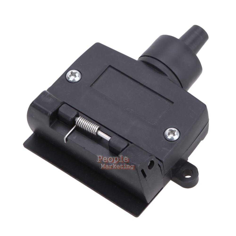 trailer light plug connector socket caravan car truck adapter ebay. Black Bedroom Furniture Sets. Home Design Ideas