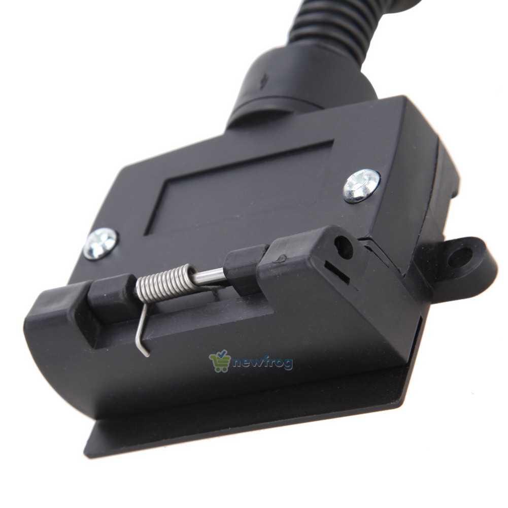 trailer socket plug trailer light cable connector flat truck adapter. Black Bedroom Furniture Sets. Home Design Ideas