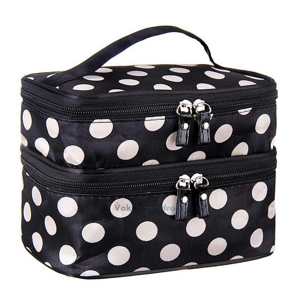 Portable Beauty Travel Toiletry Case Organizer Handbag Makeup Cosmetic Tool Bag