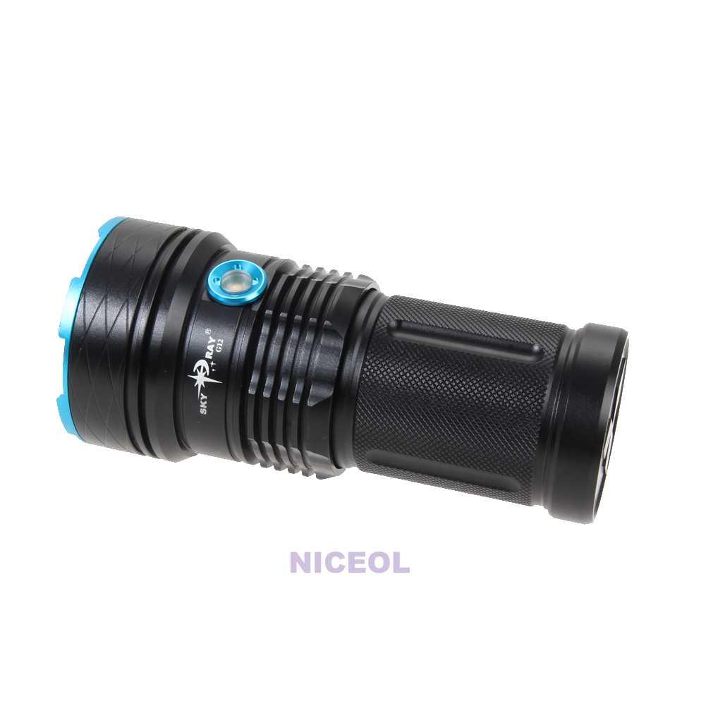 30000lm super lumineux 12 cree xm l t6 led lampe lampe de - Super lampe de poche ...