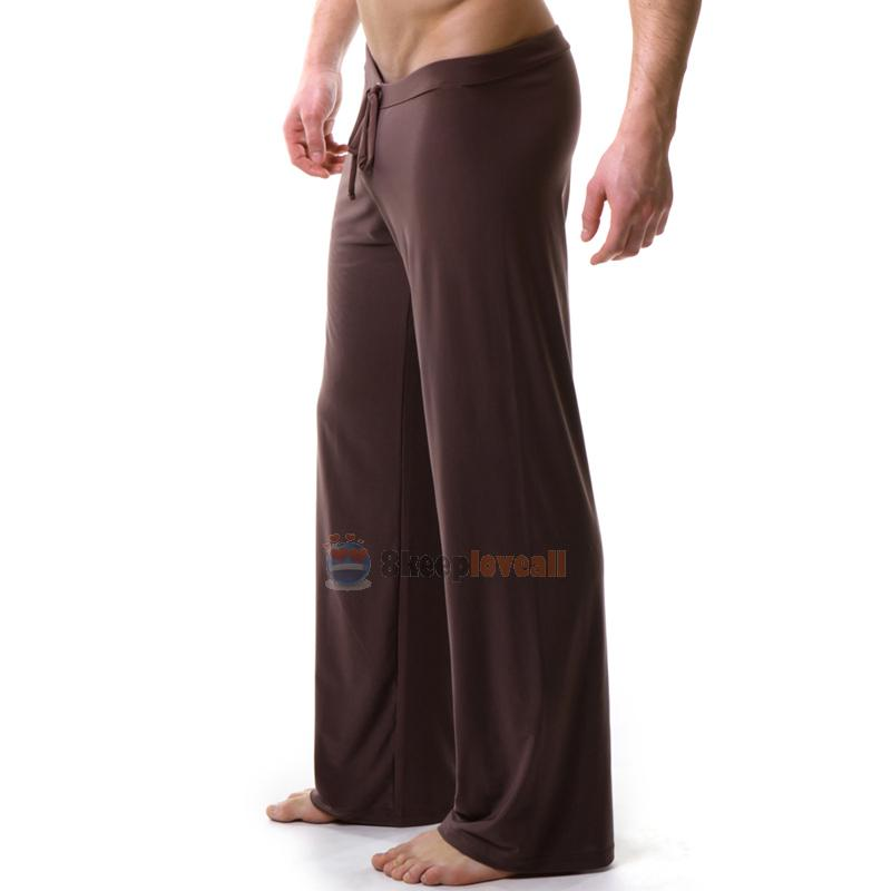 Sports Yoga Sheer Pants Men's Casual Home Trousers Lounge ...