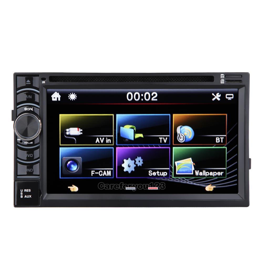 double 2 din 7 st r o voiture lecteur dvd cd bluetooth radio ipod sd usb tv ebay. Black Bedroom Furniture Sets. Home Design Ideas