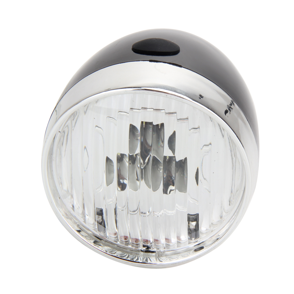 1X Retro Bicycle Bike 3 LED Front Light Headlight Vintage Flashlight Lamp NP