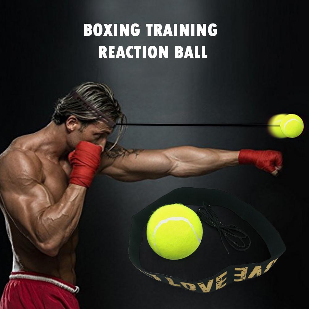 Boxing Reflex Speed Punch Ball Headband Elastic Rope Set for Sanda Boxer UK