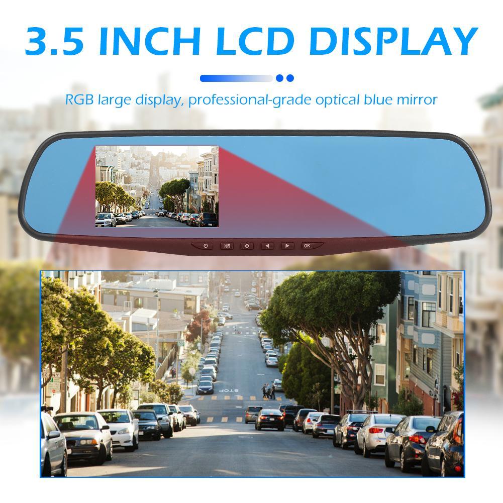 1080P 3.5 inch LCD Display Car Dash DVR Rear View Mirror Video Media Recorder